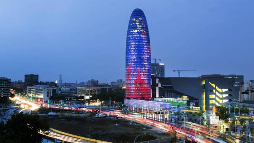 Torre Agbar sistema cortafuego